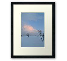 Tromso snow landscape Framed Print