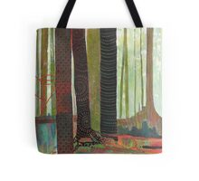 Embroidered Forest, mixed media and zentangles Tote Bag