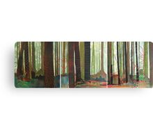Embroidered Forest, mixed media and zentangles Canvas Print