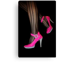 Candy Heels Canvas Print
