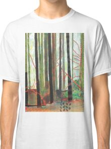 Embroidered Forest, mixed media and zentangles Classic T-Shirt