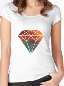 Galaxy Diamond Women's Fitted Scoop T-Shirt