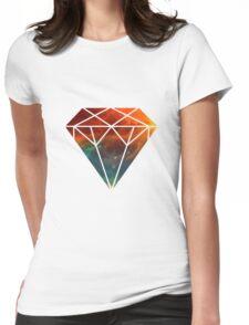 Galaxy Diamond Womens Fitted T-Shirt