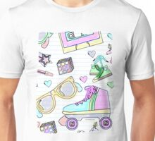 Crazy Eighties Pastel Doodle Unisex T-Shirt