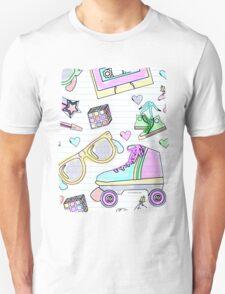Crazy Eighties Pastel Doodle T-Shirt
