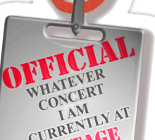 Every Concert Backstage Pass Sticker