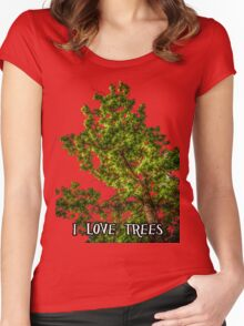 I love trees Tee/Hoodie Women's Fitted Scoop T-Shirt