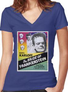 The Bride of Frankenstein Women's Fitted V-Neck T-Shirt