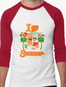 I Heart Summer Men's Baseball ¾ T-Shirt