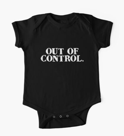out of control. One Piece - Short Sleeve