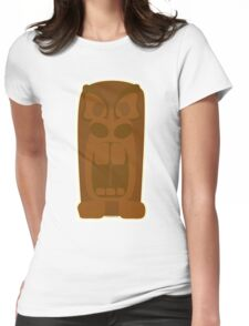 Angry Tiki God Womens Fitted T-Shirt