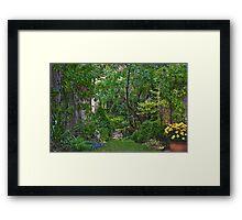 Mystery Garden Framed Print