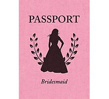 Bridesmaid Passport Invitation  Photographic Print