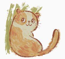 Smile of fat cat by Toru Sanogawa