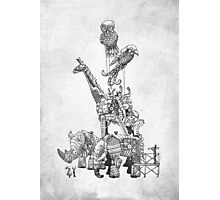 The Clockwork Menagerie (Silver) Photographic Print