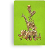 The Clockwork Menagerie (Lime) Canvas Print