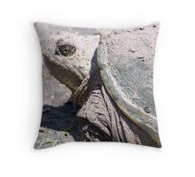 Backyard Dinosaur Throw Pillow