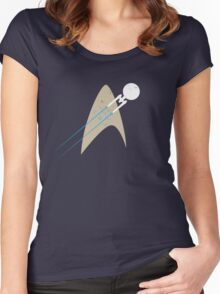 Boldly Go... - blue Women's Fitted Scoop T-Shirt