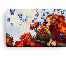 Bilbo and Butterflies Canvas Print