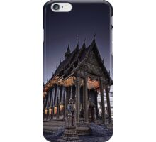 Temple by night iPhone Case/Skin