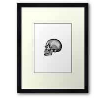 Grey's Anatomy Skull (Black & White) Framed Print