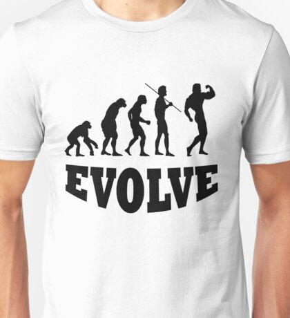 Evolution to Body Builder Unisex T-Shirt