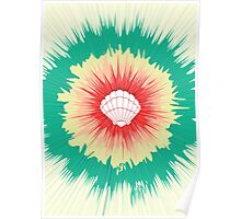 Mermaid Sunburst Poster