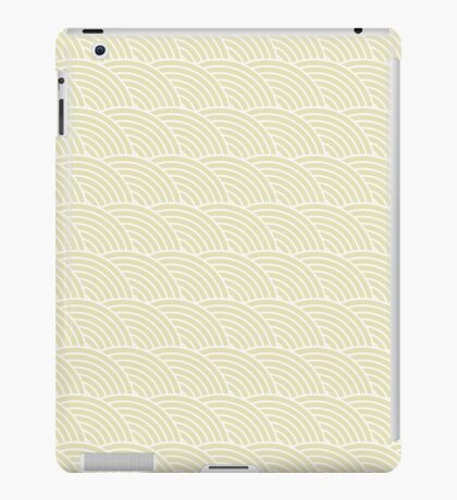 Beige Fish Scale Pattern iPad Case/Skin