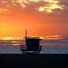 life guard sunset by Tim Horton