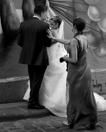 Wedding Photography  Hosier Lane by Andrew  Makowiecki