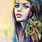 Peacock Girl by Slaveika Aladjova