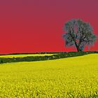 Oak Tree Landscape ( Red ) by wiggyofipswich