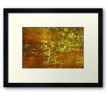 the juicy texture of light Framed Print