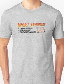 WORST ADVENTURERS - Slogan (deutsch) T-Shirt