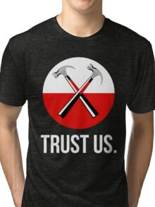 Pink floyd TRUST US Tri-blend T-Shirt