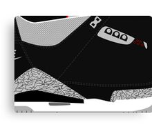 Made in China III Black/Cement Size US 9.5 - Pop Art, Sneaker Art, Minimal Canvas Print