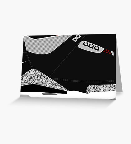 Made in China III Black/Cement Size US 9.5 - Pop Art, Sneaker Art, Minimal Greeting Card