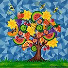 Tutti Fruti Tree by Lisa Frances Judd ~ QuirkyHappyArt