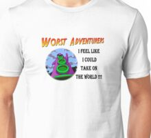 WORST ADVENTURERS - Purple Tentacle WORLD Unisex T-Shirt