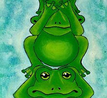 Three Wise Frogs by Lisa Frances Judd ~ Original Australian Art