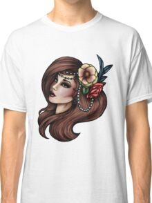 Cara Mia - Flowers and Feathers Classic T-Shirt