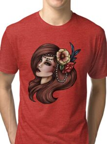 Cara Mia - Flowers and Feathers Tri-blend T-Shirt