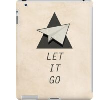Let It Go Quotes Paper Plane iPad Case/Skin