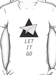 Let It Go Quotes Paper Plane T-Shirt