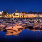 Faro Marina at Night by manateevoyager