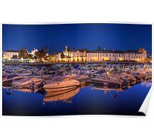 Faro Marina at Night Poster
