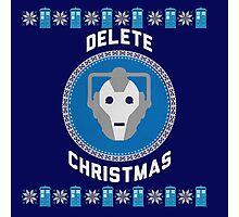 Delete Christmas - Cyberman Photographic Print