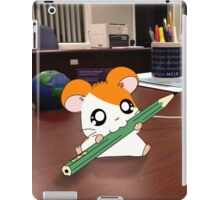 Hamtaro on my desk iPad Case/Skin