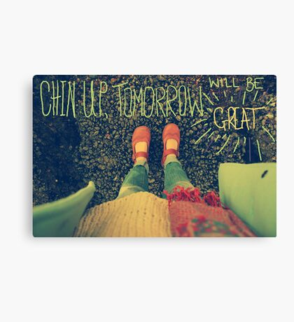 Chin Up Canvas Print