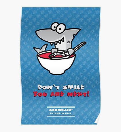 Fin's soup – Beware the shark Poster